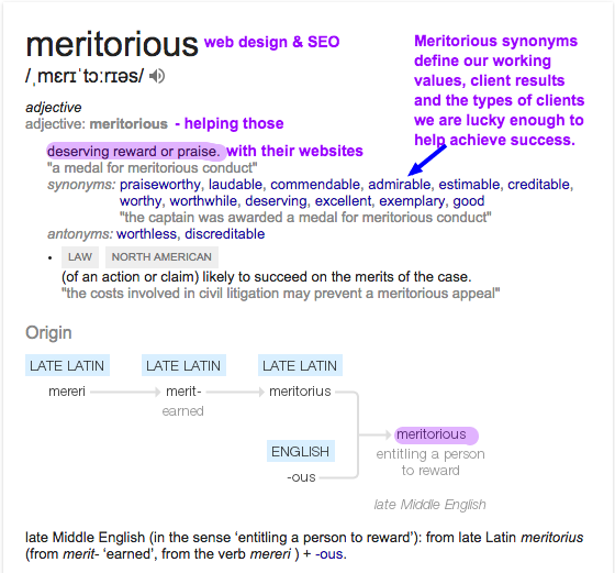 Meritorious Definition