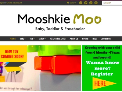 Clothing and Toy Shop Web Design